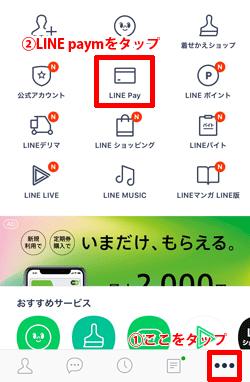 LINE pay申し込み画面操作手順