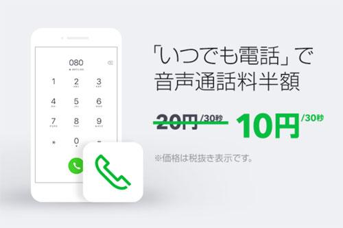 LINEモバイル_通話半額