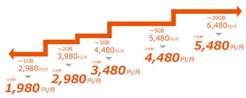 ピタットプラン_料金テーブル